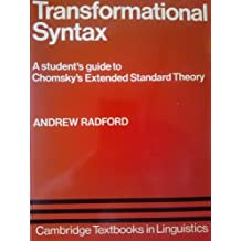 Transformational Syntax (Cambridge Textbooks in Linguistics) by Andrew Radford (1982-01-29)