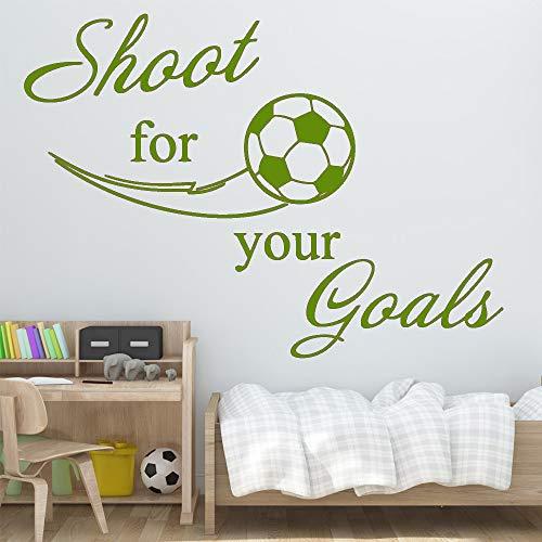 Exquisito Fútbol Fútbol Pegatinas de pared del dormitorio Pegatina para el cuarto de las niñas Habitación para niños Decoración de la naturaleza Vinilo Arte Tatuajes de pared 4 XL 58cm X 59cm