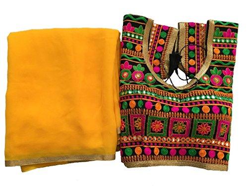 Balaji Fashion Brocade & Georgette Saree (D.No Dvs 5071_Multi-Coloured)