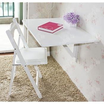 sobuy k chentisch wandklapptisch esstisch schreibtisch 2x klappbar 80x60cm fwt02 w wei. Black Bedroom Furniture Sets. Home Design Ideas