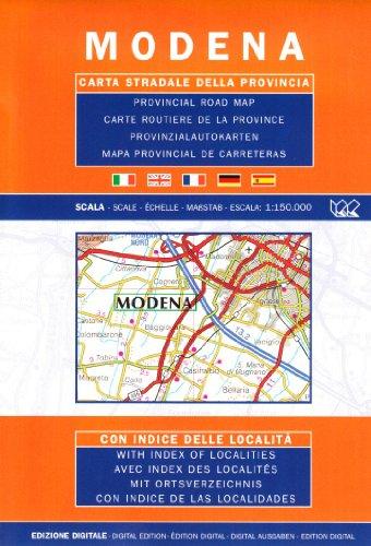 Modena. Carta stradale della provincia 1:150.000 (Carte stradali d'Italia) por Litografia Artistica Cartografica (LAC)