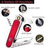 Kivors® Elektronisches USB Heizdraht Mini Winddichte Flammenlose Feuerzeug Mit Messer Flaschenöffner Tragbar - 7