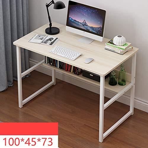 Ywdnza Computertische Computertisch Schreibtisch Tisch einfach IKEA Wirtschaft Schlafzimmer Studentenheim kleine Wohnung Raum einfachen Schreibtisch Computerschränke (Farbe : E)