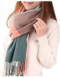 Mocasor Plaid Blanket Scarves for Women, Ladies Fashion Winter Warm Tartan d Long Checked Shawls and Wraps