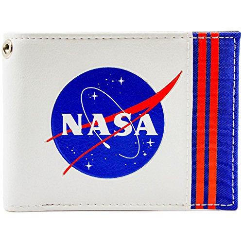 NASA Agency Logo Luftfahrt Weltraum Weiß Portemonnaie Geldbörse (Nasa Kostüme)