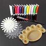 Bluelover 12 Colori 3D Nail Art Acrilico Vernici Pennello Pallet Set Utensili