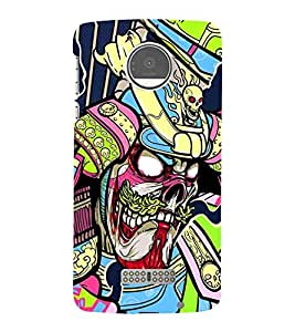 For Moto Z Play :: Motorola Moto Z Play dangerous skull, skull, skull background Designer Printed High Quality Smooth Matte Protective Mobile Case Back Pouch Cover by APEX