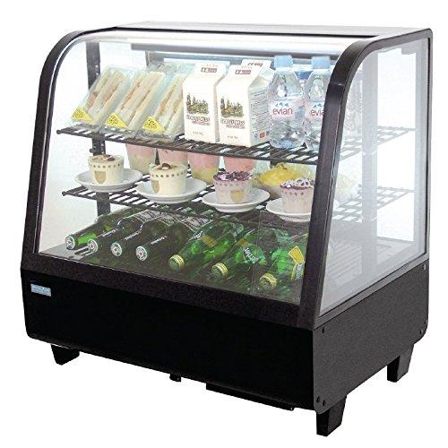 Kühlvitrine Kuchenvitrine schwarz Tischmiodell 100L