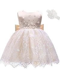 1e46a3951ec5f AHAH Bébé Fille Robe Princesse Robe De Fille De Fleur Robe De Baptême Robe  De Fête