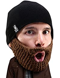 3ec12b6f6af Beard Head Stubble Populous Beard Beanie -Funny Knit Hat and Fake Beard  Facemask