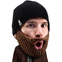Beard Head Bonnet Barbe – Peupleux Barbe Courte - Masque Calotte Drôle et  Faux Barbe Tricot 70a2f3a735f