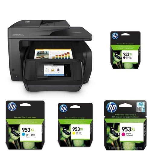HP OfficeJet Pro 8725 Multifunktionsdrucker schwarz + HP 953XL Multipack -