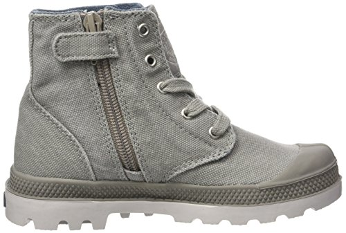 Palladium Pampa Hi Zipper, Hohe sneakers Mixte Enfant Gris (Elephant Skin/wind Chime)
