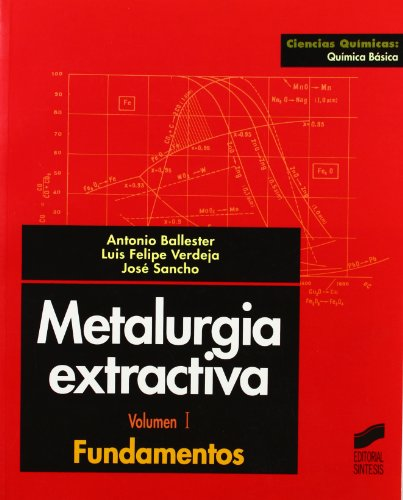 Metalurgia extractiva: Vol.I (Ciencias químicas. Química básica) por Antonio Ballester Pérez