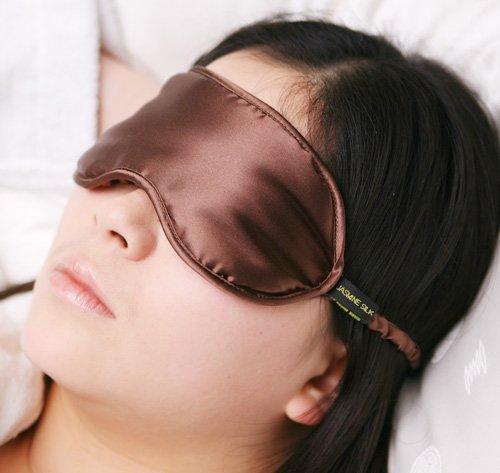 100% Seta Mascherina per dormire 100% Silk Sleep Eye Mask, colore: Moca