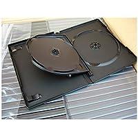 NABER–3DVD multiple per DVD–14mm Nero Confezione da 5. Confezione da 10. Confezione da 20, confezione da 50, confezione da 100 - 1 Lb Tin