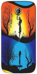 Snoogg abstract illustration Designer Protective Back Case Cover For Micromax A117