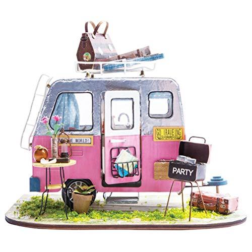 Vosarea DIY Mini Haus Miniatur Haus Kit Pädagogisches Handgemachtes Montage Haus Modell Kreatives Geschenk