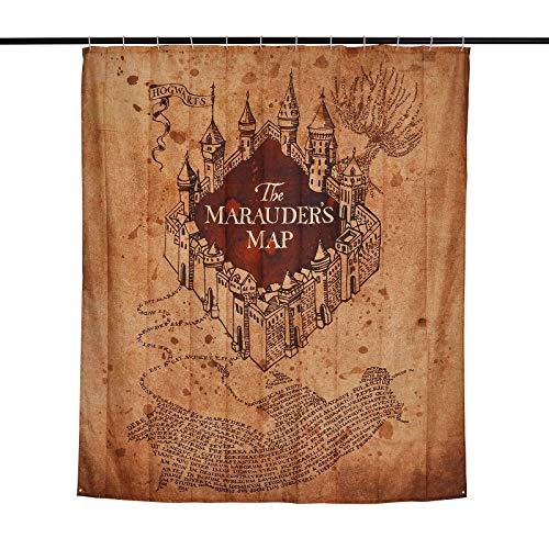 Mapa Cortina Ducha Harry Potter Bandera Pared Marauder