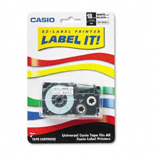 Casio Inc. Xr18wes Tape Cartridge For Kl Series Label Printers