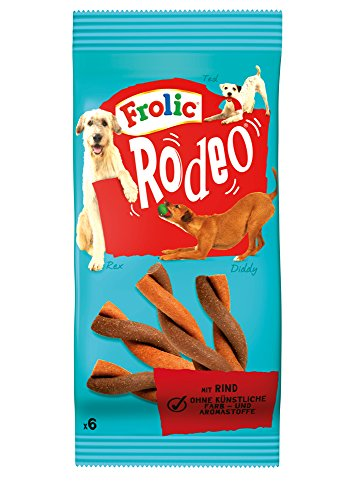 frolic rodeo Frolic Rodeo mit Rind 6 Stück, 6er Pack (6 x 105 g)