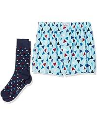 Happy Socks Men's Boxer & Sock Set of 2 (Size Socks: 7-10UK)