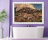 altes Spanien Fincas Fliesenaufkleber 10 15 20 25 cm Fliesenbild Toskana Fliesen Skyline Aufkleber Bad Küche 8A047, Bildformat:120cmx80cm;Fliesengröße:Fliese 25x10cm