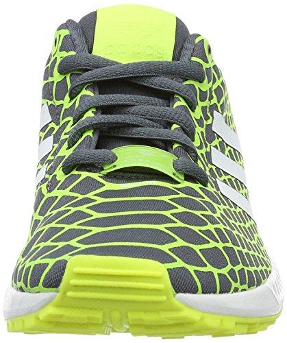 adidas Zx Flux, Sneaker Unisex Bambini Giallo/Grigio