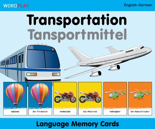 Language Memory Cards - Transportation - English-german
