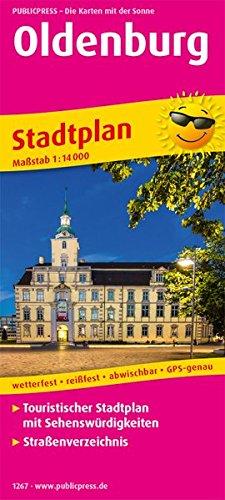 Oldenburg: Touristischer Stadtplan mit Sehenswürdigkeiten und Straßenverzeichnis. 1:14000 (Stadtplan/SP)