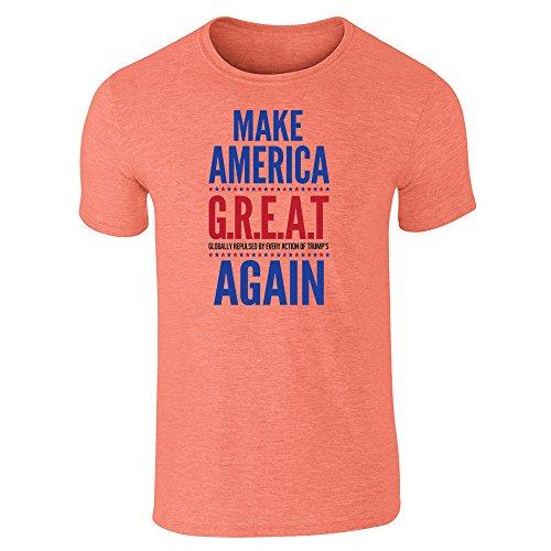 Pop Threads Herren T-Shirt Orange (Heather Orange)