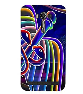 Fuson Crazy Boy Case Cover for Asus Zenfone Laser2