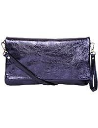 Femmes Portefeuille Style Enveloppe, Pochette cuir, Sac en bandoulière M2115, Italy