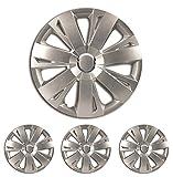 """Fussmatten-Deluxe Radkappen Radzierblenden Silber 15 Zoll 15"""" R15#EN# für Fast alle Standard - Stahlfelgen z.B. Kia"""