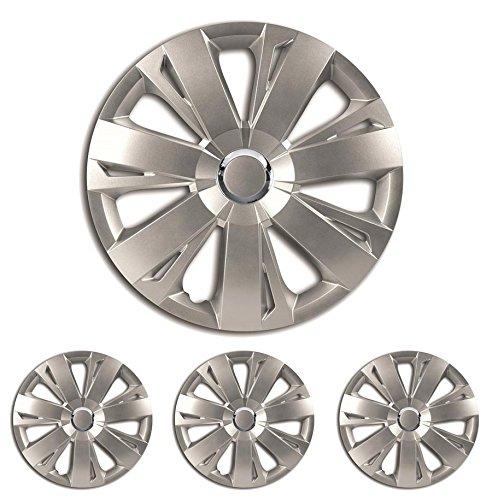 Radkappen ENERGY Radzierblenden 16Â Zoll silber 16Â r16â Universal passend für die meisten Autos mit Standard Stahl Rad für Skoda
