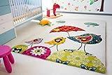 Kinder Teppich Vogel Theo - Little Carpet Kinderteppich beige - Öko-Tex zertifiziert, Größe: 120x170 cm
