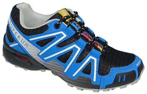 Gibra® Schuhexpress, Scarpe sportive leggere e comode, colore: nero/blu, taglia 36–41 Nero/Blu