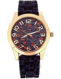 Geneva GE0641A Purple, Silicone Strap Wrist Watch–Purple