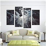 MKGLU Pittura Home Soggiorno Decorazioni Murali Alveo Ramo di Un Fiume Stampa su Tela Immagine 30X60Cmx2 30X80Cmx2 Senza Cornice