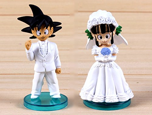 Pareja novios Dragon Ball Z. 2 Figuras de 8cm, Ideal tarta de boda