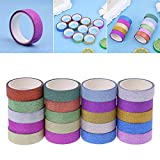 Bhty235, multi-directivité décoratifs Washi Tape 10 pcs/lot de paillettes Washi Ruban adhésif de masquage DIY Scrapbooking Décor papier adhésif autocollant