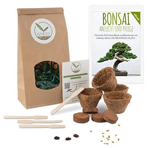 Bonsai Starter Kit Anzuchtset inkl. GRATIS eBook - Pflanzset aus Kokostöpfen, Samen & Erde - nachhaltige Geschenkidee für Pflanzenfreunde (Zwerg-Granatapfel + Tamarinde)