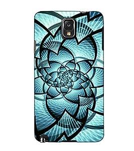 Fuson Designer Back Case Cover for Samsung Galaxy Note 4 :: Samsung Galaxy Note 4 N910G :: Samsung Galaxy Note 4 N910F N910K/N910L/N910S N910C N910Fd N910Fq N910H N910G N910U N910W8 (Blue designer pattern theme)
