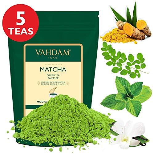 VAHDAM, Muestreador Té Verde Matcha - 5 tés | Polvo