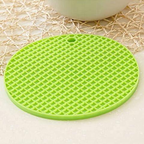 Creative casa silicone ciotola stuoia/ Lazy Susan cucina calda pad/ pentola/Tovaglietta/ anti-scivolo coaster/ tondo Tovaglietta-C 17x17cm(7x7inch)