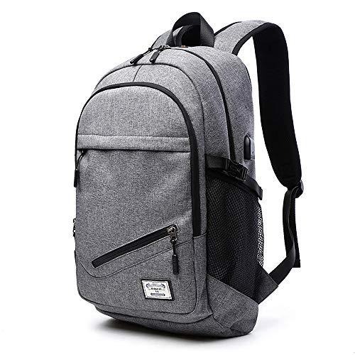 Fomobest Rucksack Herren Laptoprucksack Wasserdicht Daypack mit Basketballnetz/Ladeanschluss Sport/Campus/Arbeit/Schule/Reiserucksack Schultasche Tagestasche