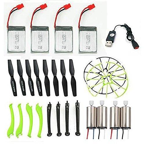 Creation® Reemplazo de la hélice, cable USB, la batería, la resbalón de aterrizaje, el motor y la hélice