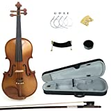 Kinglos PJA1003 4/4 Full Size Solid Wood Student Acoustic Violin Fiddle Starter Kit