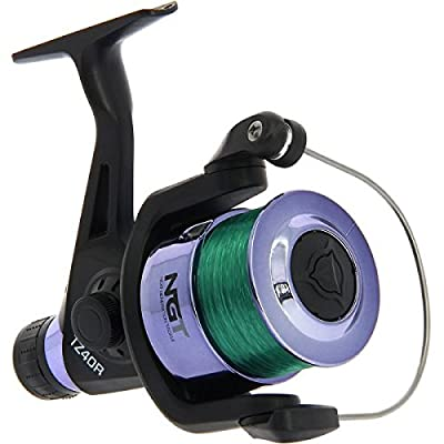 NGT Unisex Frl-TZ40R Coarse Fishing Reel with Line, Black, 8 Lb by NGT