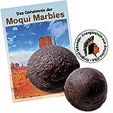 Moqui Marbles Paar ca. 2,5-3cm. MIT Zertifikat, deutschsprachigem BOOKLET